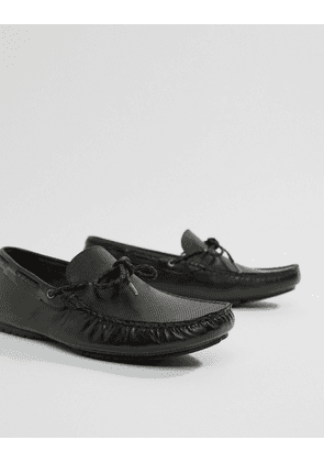 Dune Driving Shoes In Black Leather