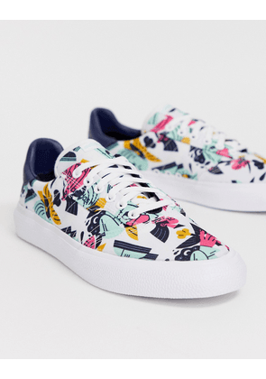 adidas Skateboarding 3MC trainers with all over print in white