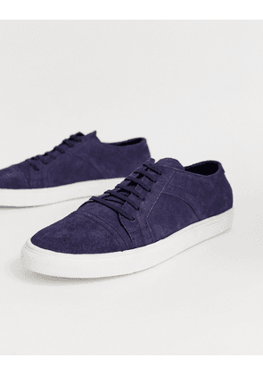 Redfoot suede plimsoll in navy