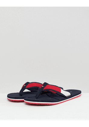 Tommy Hilfiger Technical Flag Beach Flip Flops in Red/White/Blue