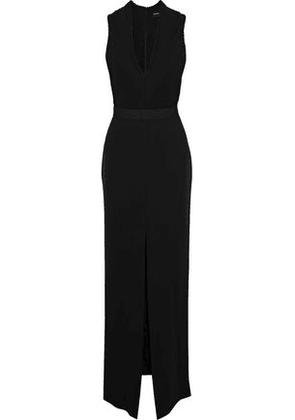 Brandon Maxwell Split-front Pintucked Crepe Gown Woman Black Size 2