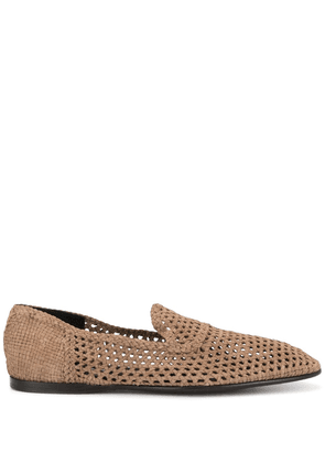 Dolce & Gabbana woven loafers - Brown