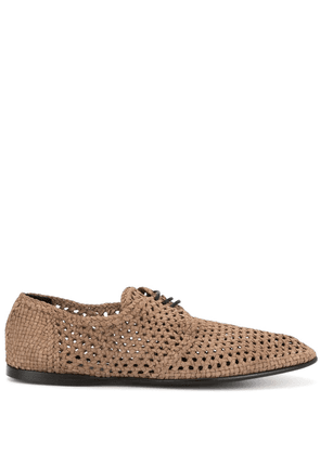 Dolce & Gabbana perforated derbies - Brown
