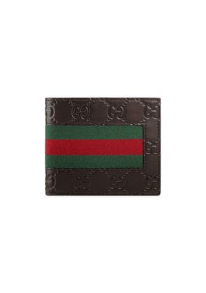 Gucci Gucci Signature Web wallet - Brown
