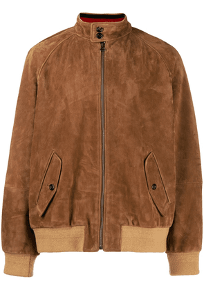 Gucci zipped suede jacket - Brown