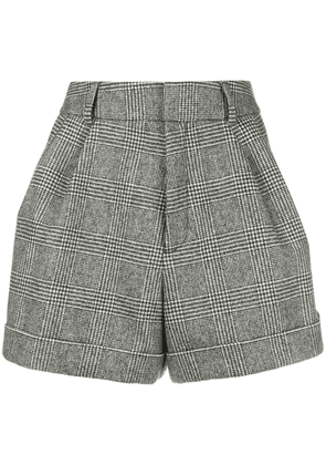 Saint Laurent micro houndstooth shorts - Grey