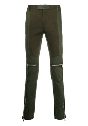 Givenchy slim-fit biker trousers - Green