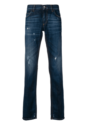 Dolce & Gabbana faded distressed jeans - Blue