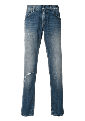 Dolce & Gabbana faded slim fit jeans - Blue