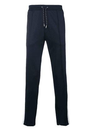 Burberry side stripe tailored joggers - Blue