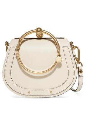 Chloé - Nile Bracelet Small Leather And Suede Shoulder Bag - Ivory