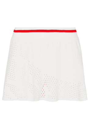 adidas by Stella McCartney - Perforated Stretch Tennis Skirt - White