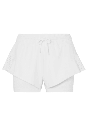 adidas by Stella McCartney - Perforated Stretch Shorts - White