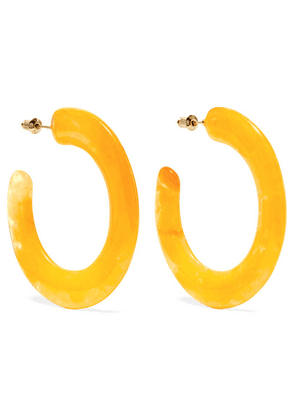 Cult Gaia - Mira Acrylic Hoop Earrings - Yellow