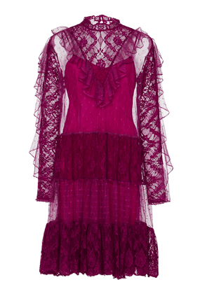 Temperley London Florence Ruffled Lace Dress