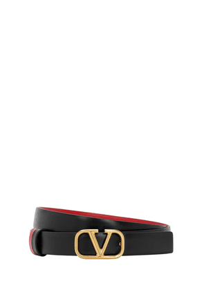 20mm Vlogo Reversible Leather Belt