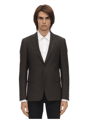 3d Motif Wool & Cotton  Jacquard Jacket