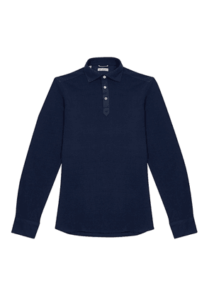 Navy Piquet Polo Shirt