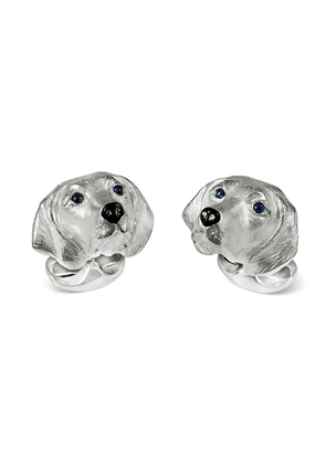 Sterling Silver Hungarian Vizla Dog Cufflinks