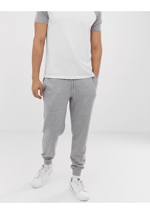 ASOS DESIGN tapered joggers in grey marl