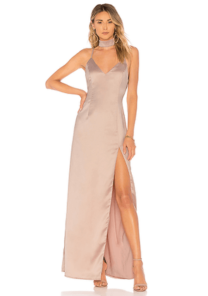 About Us Rylie Choker Maxi Dress in Blush. Size S.