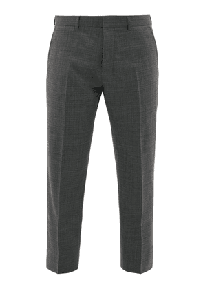 Ami - Cropped Twill Trousers - Mens - Grey