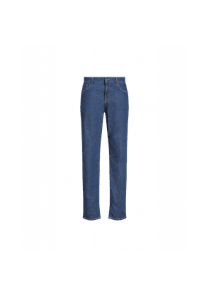 Denim Trousers With Double Question Mark