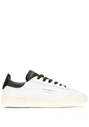 Ghoud contrast heel lace-up sneakers - White