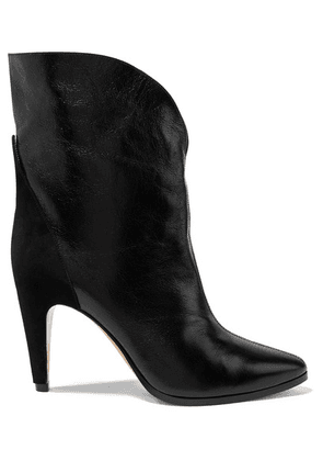 Givenchy - Gv3 Suede-trimmed Textured-leather Ankle Boots - Black