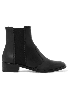 See By Chloé - Scalloped Leather Chelsea Boots - Black