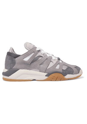 adidas Originals - Dimension Low Leather, Suede, Neoprene And Mesh Sneakers - Gray
