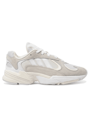 adidas Originals - Yung-1 Leather, Suede And Mesh Sneakers - White