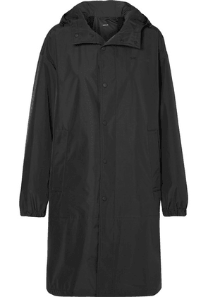 Helmut Lang - Oversized Hooded Shell Raincoat - Black