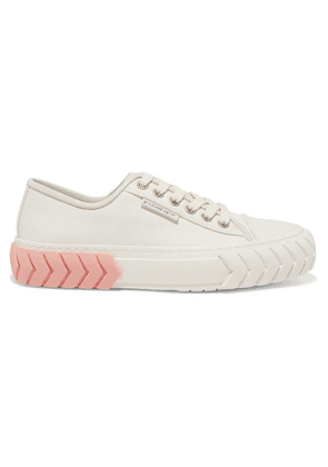 both - Tyres Leather-trimmed Coated-canvas Sneakers - White