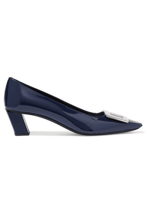 Roger Vivier - Belle Vivier Patent-leather Pumps - Navy