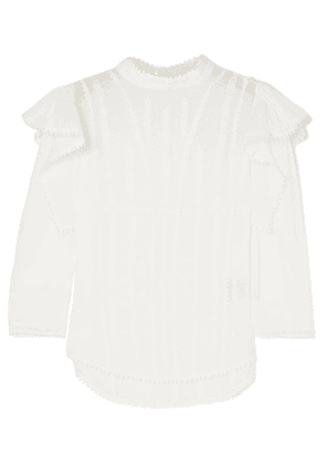 Isabel Marant Étoile - Anny Embroidered Cotton-voile Blouse - White