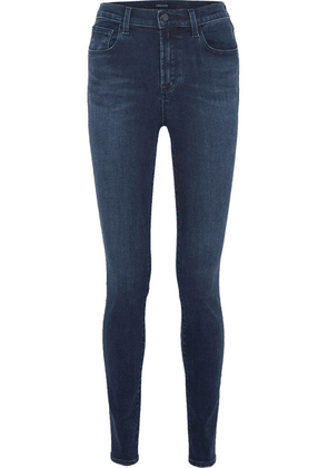 J Brand - Carolina 32' High-rise Skinny Jeans - Dark denim