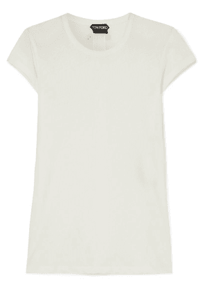 TOM FORD - Cotton-jersey T-shirt - Off-white