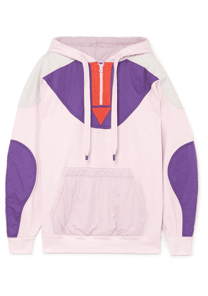 Isabel Marant Étoile - Nansel Paneled Cotton-blend Jersey And Twill Hoodie - Pink