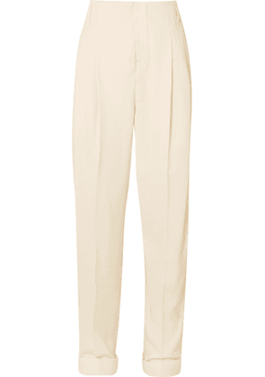 Haider Ackermann - Pleated Cotton-blend Pants - Cream