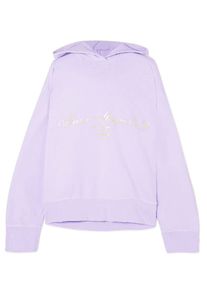 MM6 Maison Margiela - Oversized Cutout Printed Cotton-jersey Hoodie - Lilac