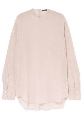 Ann Demeulemeester - Oversized Cotton And Cashmere-blend Blouse - Pink