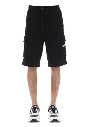 Printed Logo Cotton Jersey Shorts