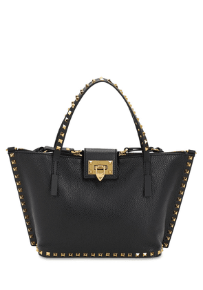 Small Rockstud Hype Leather Tote Bag