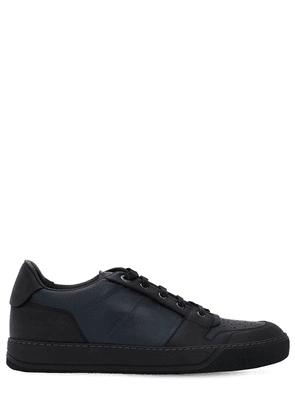 Perforated Low Top Leather Sneakers