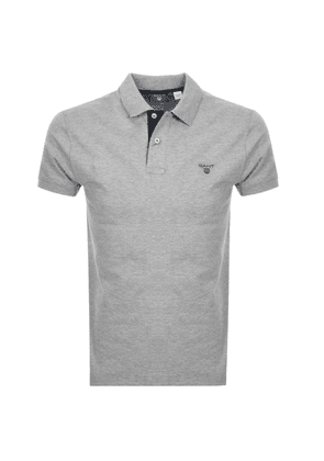 950bde27b8bc Gant Contrast Collar Rugger Polo T Shirt Grey. Gant