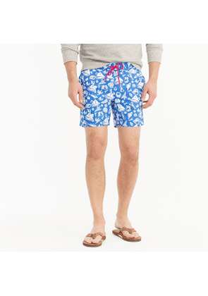 6' swim trunk in seaside print