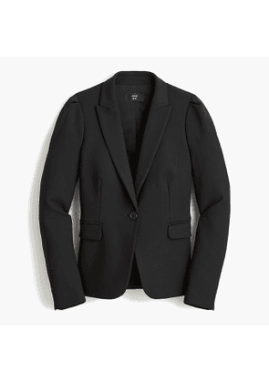 Puff sleeve blazer in four-season stretch