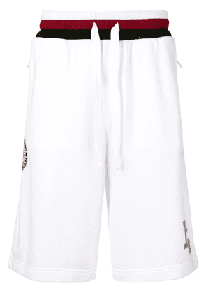 Dolce & Gabbana king patch track shorts - White
