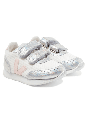 Veja Kids - Size 22 - 27 Arcade Mesh And Iridescent Leather Sneakers